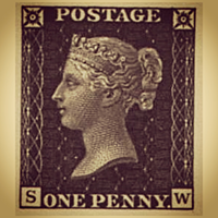This stamp is known as the Penny Black the stamp bares the image of Queen Victoria; it was an instant hit.